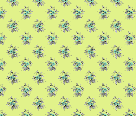 Farmhouse Roses Minnie fabric by joanmclemore on Spoonflower - custom fabric