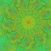 Green Kaleidoscope large repeat