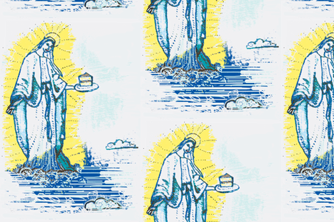 Thank You, Virgin Mary ,for the Cake fabric by boris_thumbkin on Spoonflower - custom fabric