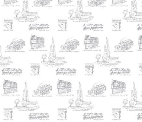 Grey Toile of Chesterfield fabric by squeakyangel on Spoonflower - custom fabric