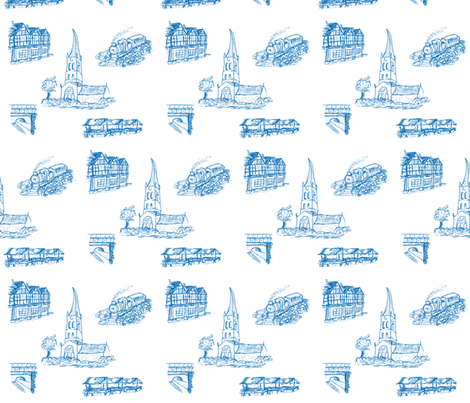 Chesterfield in Blue fabric by squeakyangel on Spoonflower - custom fabric