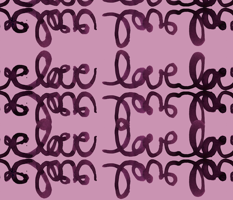 cestlaviv_tat love plum on plum fabric by cest_la_viv on Spoonflower - custom fabric