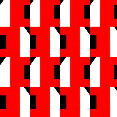 Staggered Red and Black fabric by stoflab on Spoonflower - custom fabric