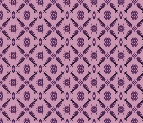 viv_tat plum on plum mirrior fabric by cest_la_viv on Spoonflower - custom fabric