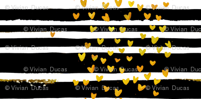 cestlaviv_Black Stripe Gold Hearts