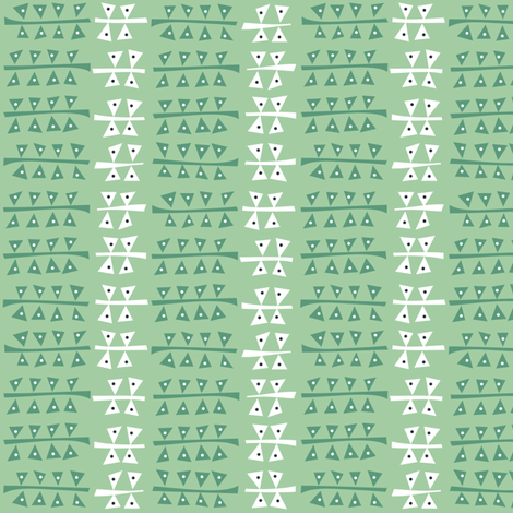 Triangulated (sage) fabric by bippidiiboppidii on Spoonflower - custom fabric