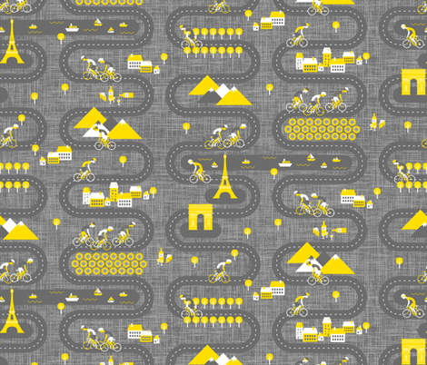 Vive Le Tour de France! fabric by zesti on Spoonflower - custom fabric