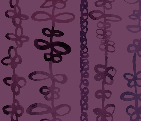 viv_tat stripes plum on plum fabric by cest_la_viv on Spoonflower - custom fabric