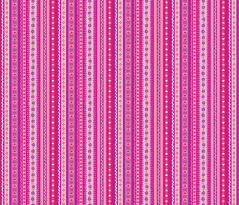 ribbon stripe fabric by minimiel on Spoonflower - custom fabric