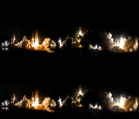 Shuttle Launch at Night Border