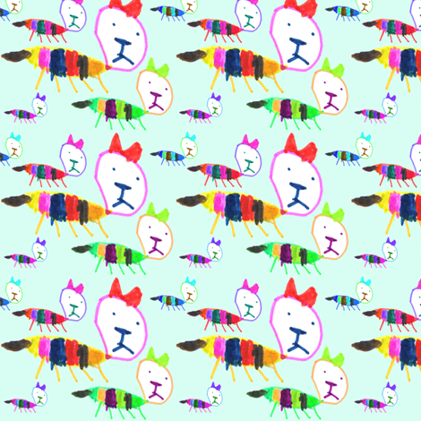 Bea Kitty Kitty fabric by handmadepretties on Spoonflower - custom fabric