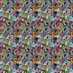 plumas de color