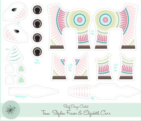 Cornelius the Giant Unicorn fabric by elizabeth on Spoonflower - custom fabric