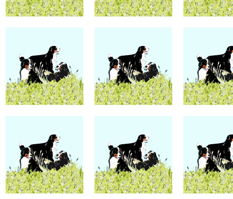 bernese Mountain dogs 2 fabric by dogdaze_ on Spoonflower - custom fabric