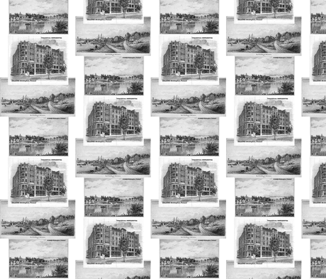 The_olde_Helsinki_city_in_the_past fabric by vinkeli on Spoonflower - custom fabric