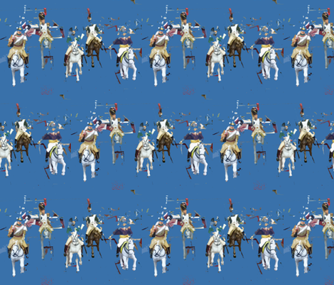 Deconstructed Horsemen fabric by susaninparis on Spoonflower - custom fabric