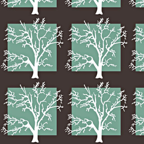 the white tree green