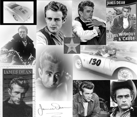 JAMES DEAN B & W fabric by bluevelvet on Spoonflower - custom fabric