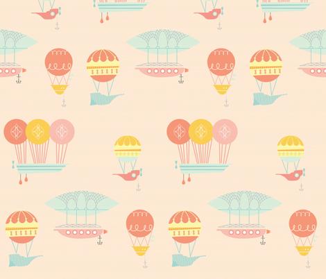 darling dirigible fabric by annaboo on Spoonflower - custom fabric