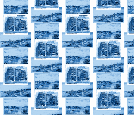 The_olde_Helsinki_city_in_the_past-ch fabric by vinkeli on Spoonflower - custom fabric