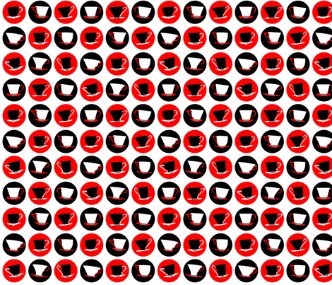 cup spots (red) fabric by bippidiiboppidii on Spoonflower - custom fabric