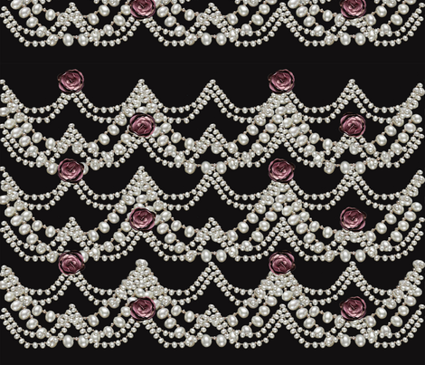 pearls and roses fabric by kociara on Spoonflower - custom fabric