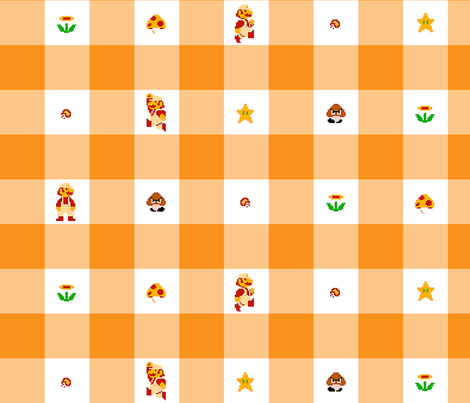 Orange Marios 2 inch gingham fabric by retropopsugar on Spoonflower - custom fabric