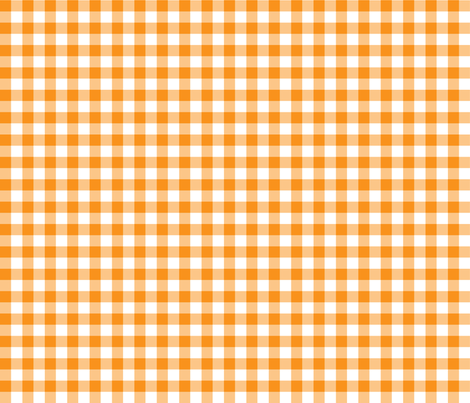 Orange Marios 1/2inch complement fabric by retropopsugar on Spoonflower - custom fabric