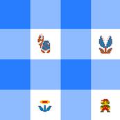 Blue Marios 2 inch gingham