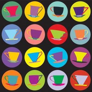 cup spots (black/multi)
