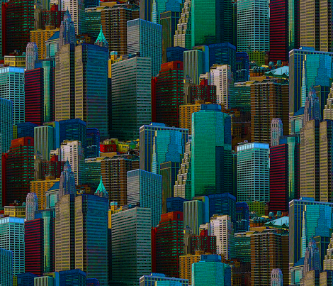 NYC Bright fabric by chris on Spoonflower - custom fabric