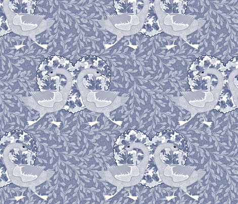 delft grey goose fabric by glimmericks on Spoonflower - custom fabric