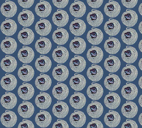 pearls and blue rose fabric by kociara on Spoonflower - custom fabric