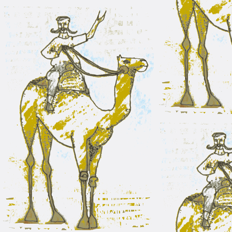 Riding on a Camel fabric by boris_thumbkin on Spoonflower - custom fabric