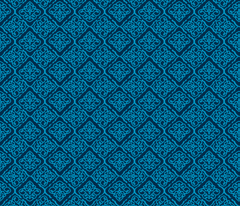 Blue Medallion fabric by janelle_wooten on Spoonflower - custom fabric