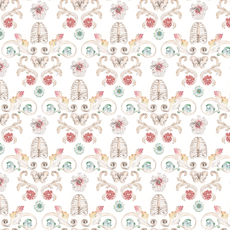 parrot_pattern_template_darker fabric by mome_rath_garden on Spoonflower - custom fabric