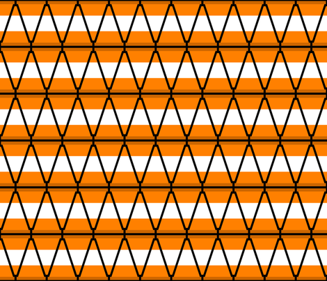 traffic cone stripe fabric by sef on Spoonflower - custom fabric