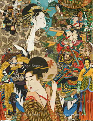 Vintage Asian Collage