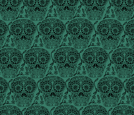 Sugar Skulls fabric by marlene_pixley on Spoonflower - custom fabric