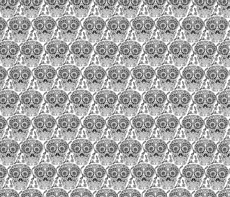 Sugar Skulls 2 fabric by marlene_pixley on Spoonflower - custom fabric