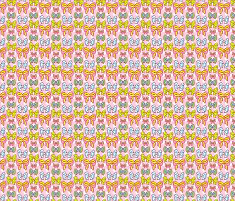 Carly's Bows fabric by hugandkiss on Spoonflower - custom fabric