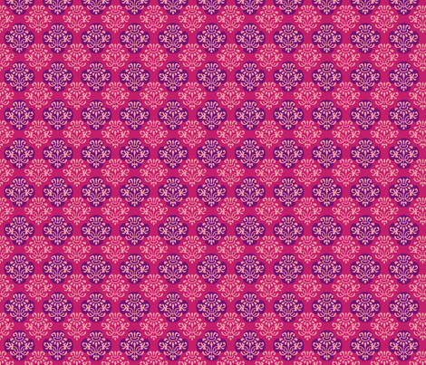 hot_pink_indian_damask-ch fabric by pixeldust on Spoonflower - custom fabric