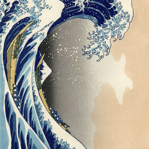CENTERED Great Wave off Kanagawa 42w 29h