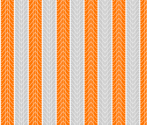 Bike Tread Orange Grey Small fabric by shelleymade on Spoonflower - custom fabric