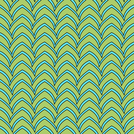 Flying Stripe  - Turquoise Celadon fabric by glimmericks on Spoonflower - custom fabric