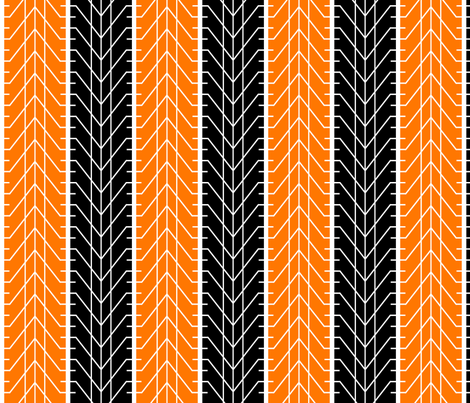 Bike Tread Orange Black fabric by shelleymade on Spoonflower - custom fabric