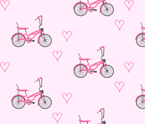 Pretty Pink Cruiser fabric by jumping_monkeys on Spoonflower - custom fabric