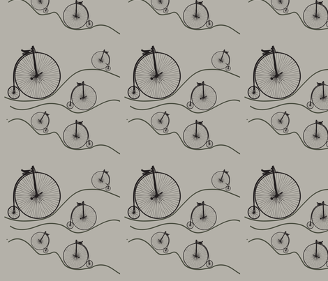 penny farthing 2 fabric by sclues on Spoonflower - custom fabric