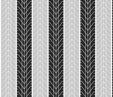 Bike Tread Chevron Cracked fabric by shelleymade on Spoonflower - custom fabric