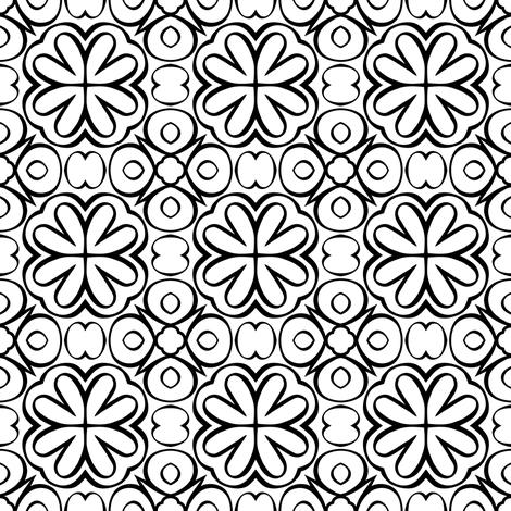 Augmentum part two (black and white version) fabric by samvanvoorst on Spoonflower - custom fabric